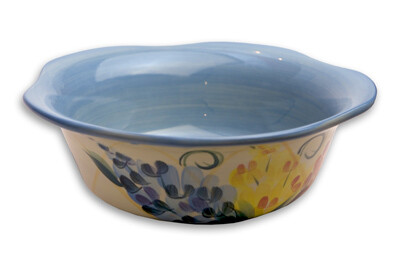 """Garden View 9"""" Large Scalloped Salad Chip Bowl"""