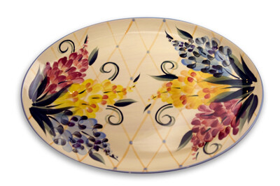 "Garden View 16"" Oval Serving Platter"