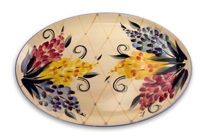 """Garden View 16"""" Oval Serving Platter"""