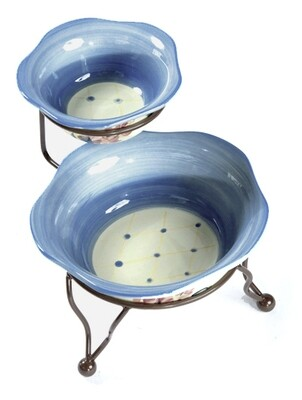 Garden View Iron Stand with Bowls