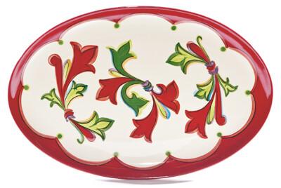 """Noel 16"""" Oval Platter"""