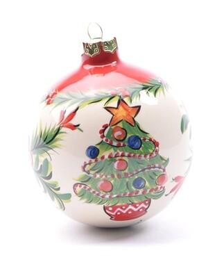 Christmas Tree Globe Ornament