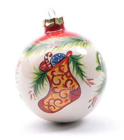 Stocking Globe Ornament