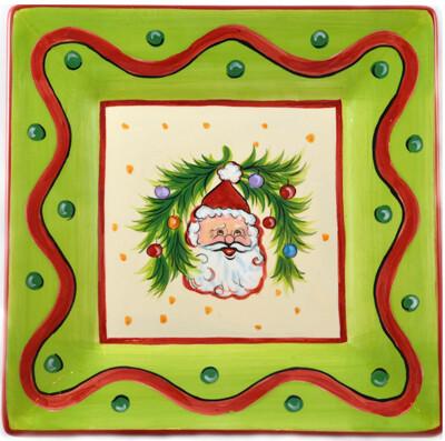 "Christmas Bright Santa 8"" Plate"