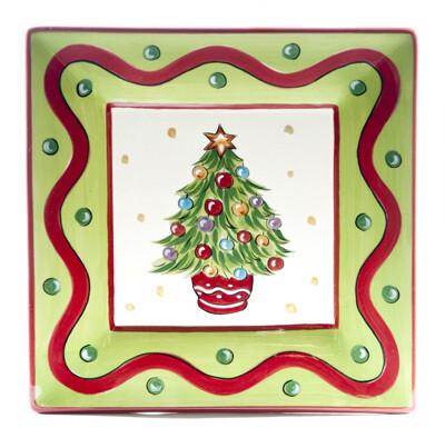 "Christmas Bright Tree 8"" Plate"