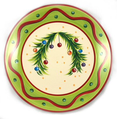 "Christmas Bright Dinner 11"" Plate"