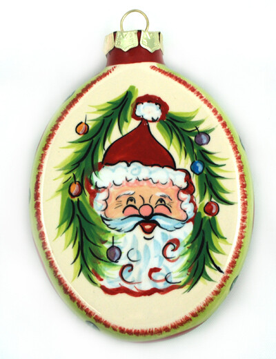 Christmas Santa Ornament (Front and Back)
