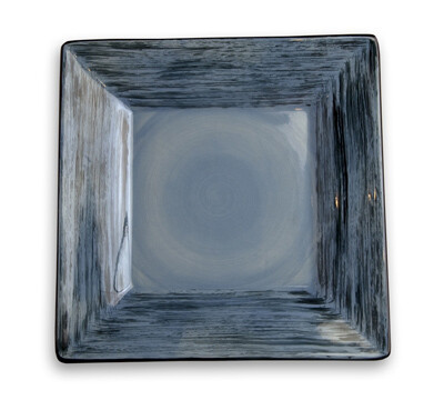 """Simply Gail Blue 8"""" Square Plate"""