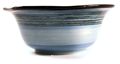 "Simply Gail Blue 9"" Scalloped Bowl"