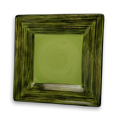 """Simply Gail Green 8"""" Square Plate"""