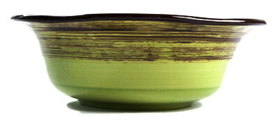 "Simply Gail Green 6"" Scalloped Bowl"