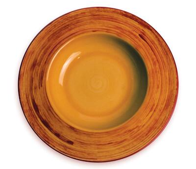 "Simply Gail Yellow 8"" Pasta Bowl"