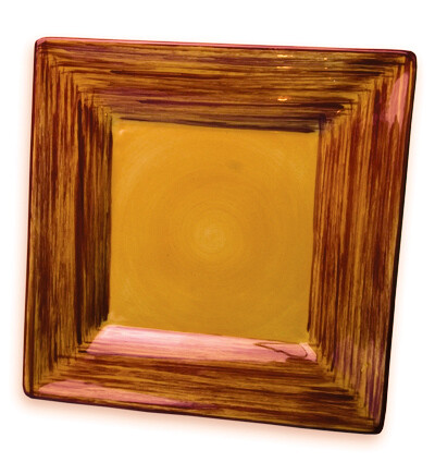 "Simply Gail Yellow 8"" Square Plate"