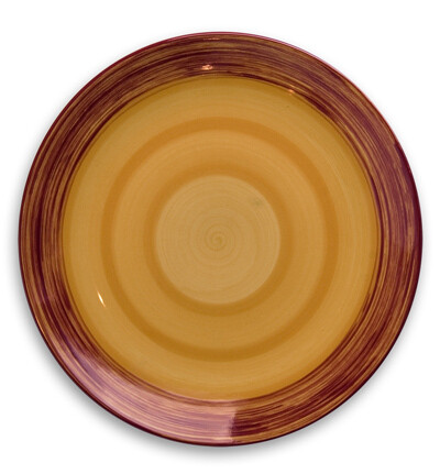 "Simply Gail Yellow 11"" Dinner Plate"