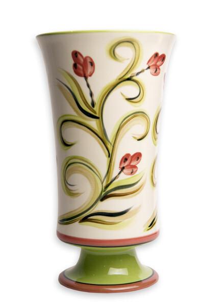 """Honeysuckle 10"""" Vase Utensil Holder"""