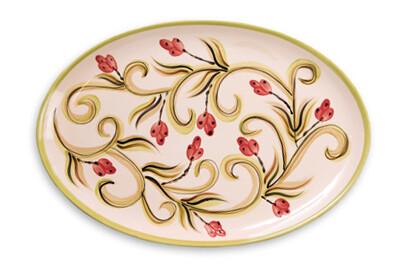 "Honeysuckle 16"" Oval Serving Platter"
