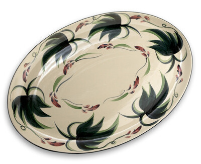 """Grapevine 16"""" Oval Serving Platter"""