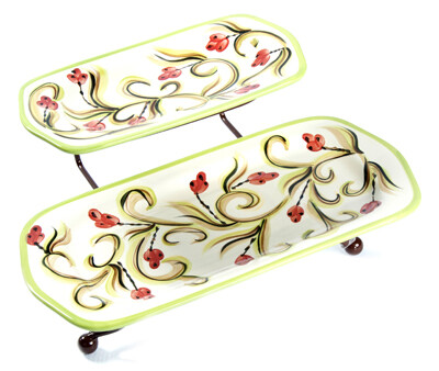 Honeysuckle Iron Stand with Platters