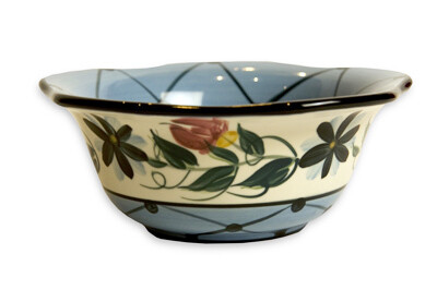 "Annabelle 6"" Small Scalloped Sauce Bowl"