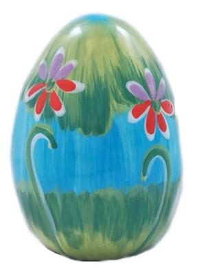 """3"""" Flower Green Easter Egg"""