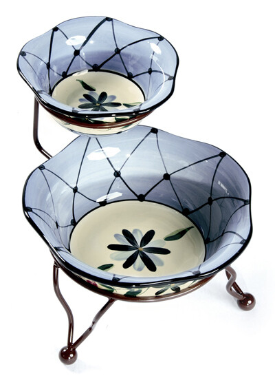 """Annabelle Iron Stand with 6"""" & 9"""" Bowls"""