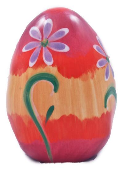"""3"""" Flower Yellow Easter Egg"""