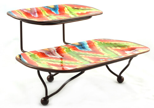 """Endless Iron Stand With 6"""" & 9"""" Platters"""