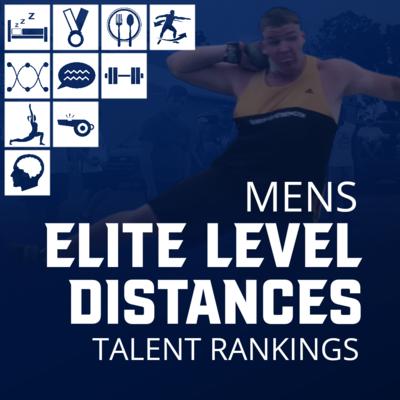 Men's Elite Level Distance Charts