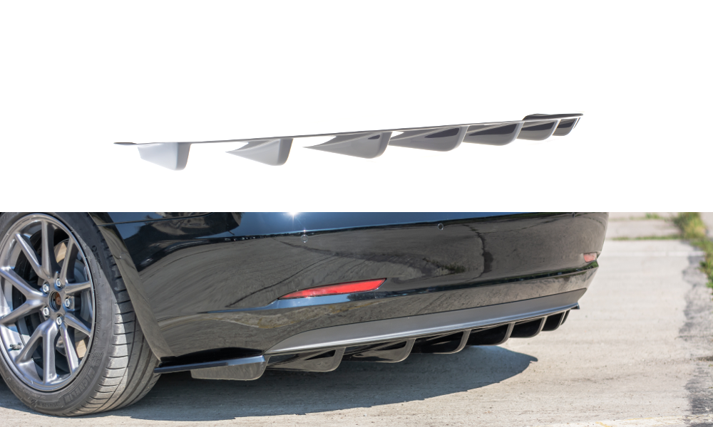 Heckansatz Tesla Model 3