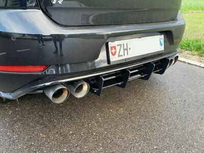 Heckdiffusor Race VW Golf 7 R Facelift