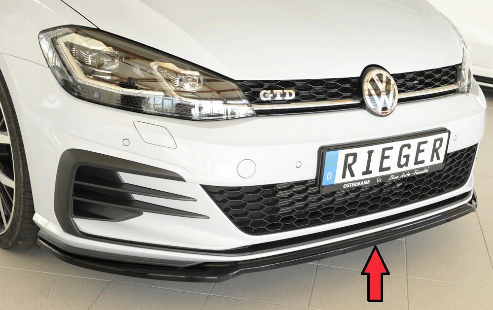 Spoilerschwert Front für Original-Frontschürze, VW Golf 7 GTI / GTD / GTE