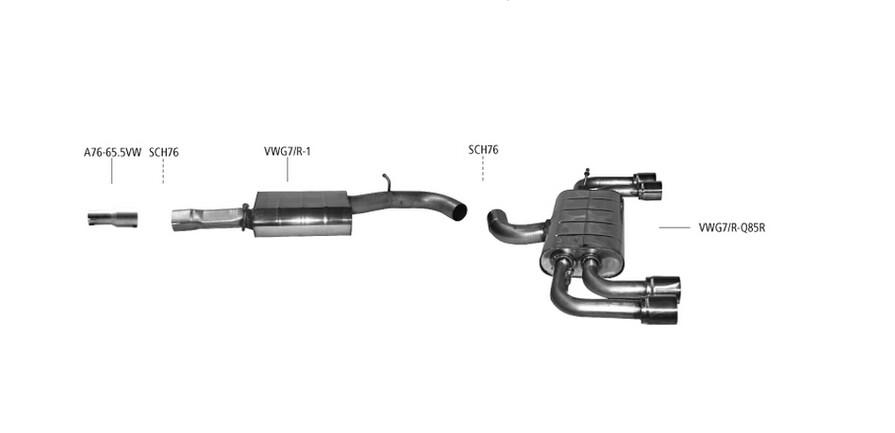 Golf 7R / S3 8V Bastuck Anlage
