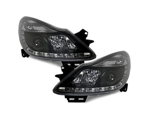 LED Tagfahrlicht-Scheinwerfer Opel Corsa D 06-11 schwarz