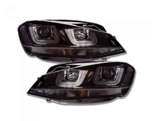 Tagfahrlicht-Scheinwerfer VW Golf 7 VII GTI / R32 DESIGN 13-18 schwarz/schwarz
