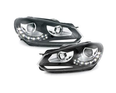 LED Tagfahrlicht-Scheinwerfer VW Golf 6 VI 08-13 schwarz