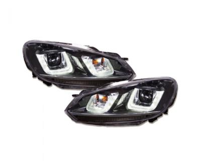 LED Tagfahrlicht-Upgrade-Scheinwerfer VW Golf 6 VI im GTI / R32 DESIGN 08-13 schwarz