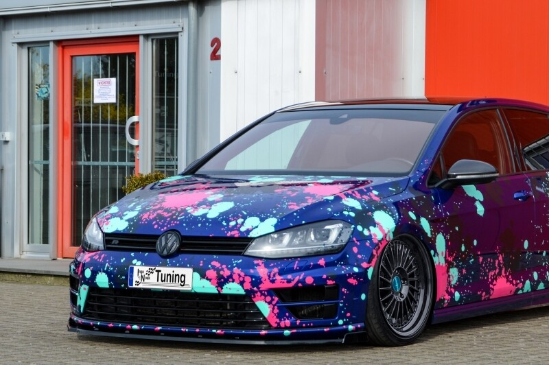 Cup Frontspoilerlippe  VW Golf 7 R Vorfacelift