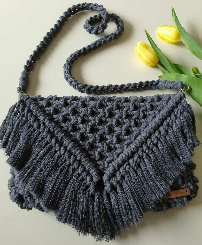 Dark Grey Boho Bag