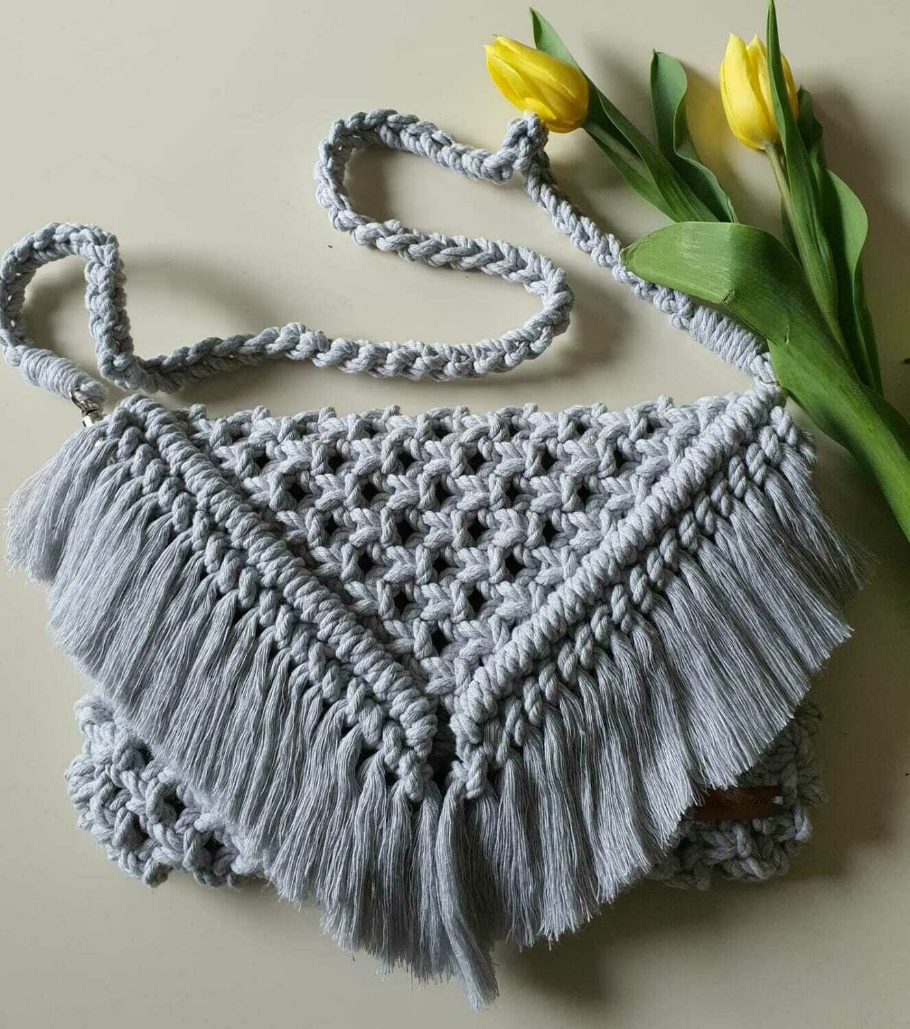 Light Grey Boho Bag