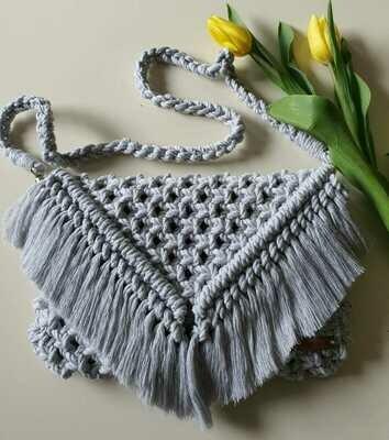 Light Grey Boho Bag