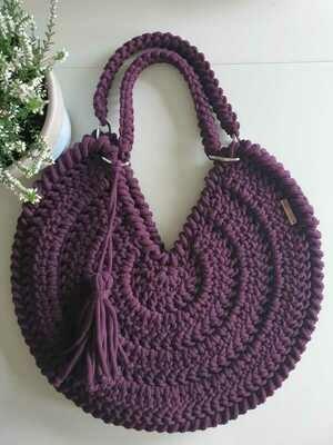 Dark Violet Maxi Bag