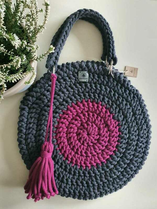 Grey-Pink Classic Bag
