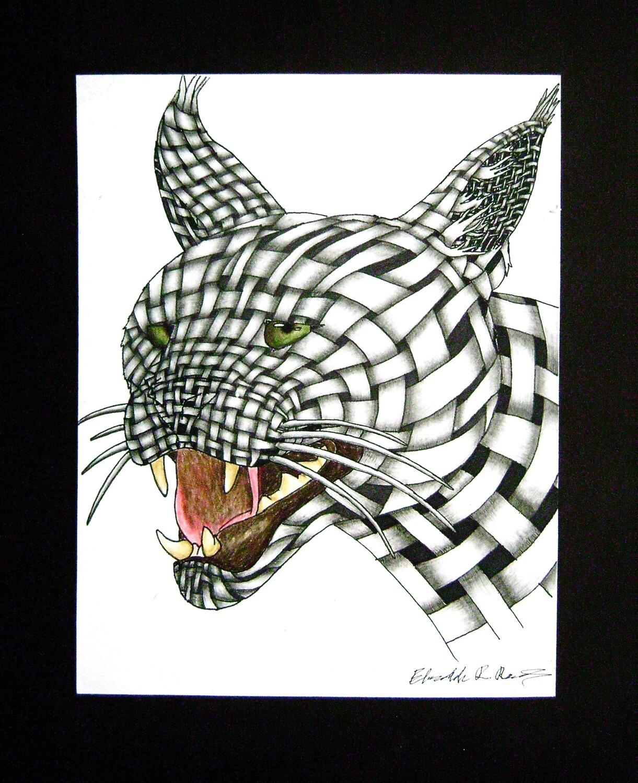 "Woven Lynx Print  8.5"" x 11"""