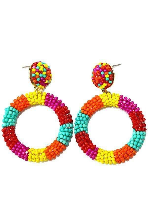 Dangle Circle Drop Earrings