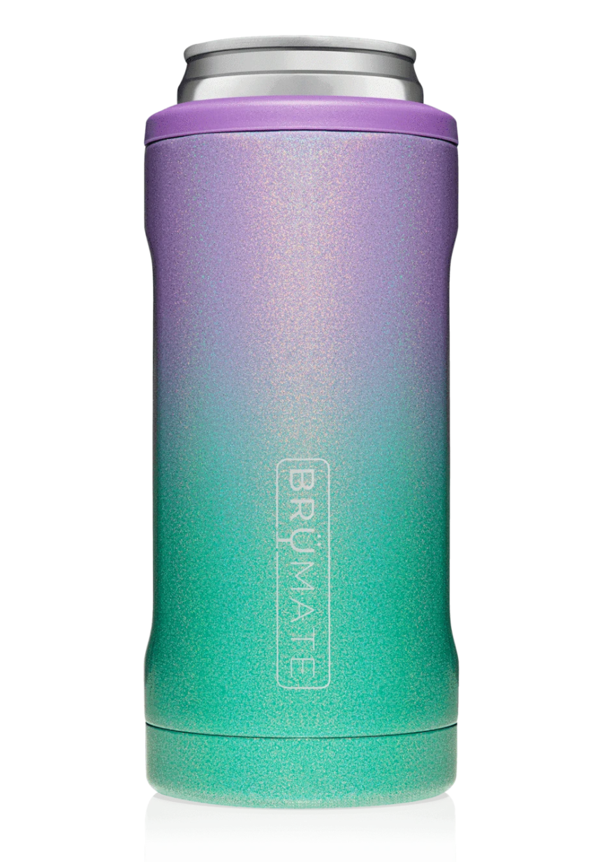 Hopsulator Slim Insulated Slim-Cooler | Glitter Mermaid