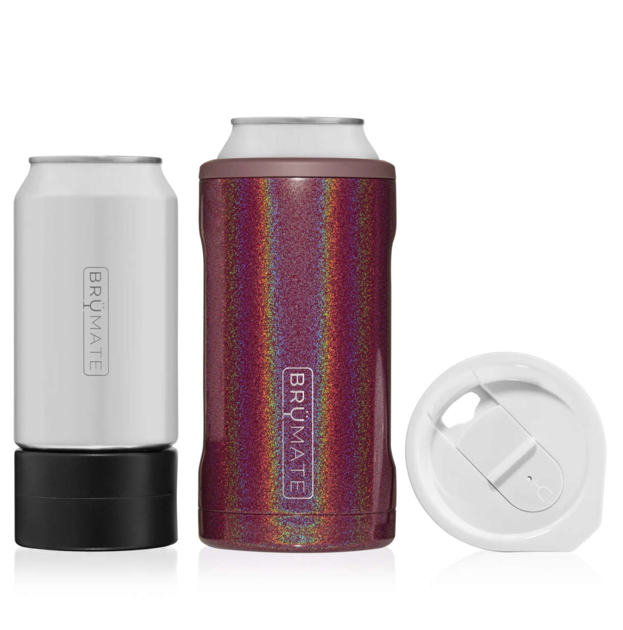 Hopsulator TRiO 3-in-1 can-cooler | Glitter Merlot