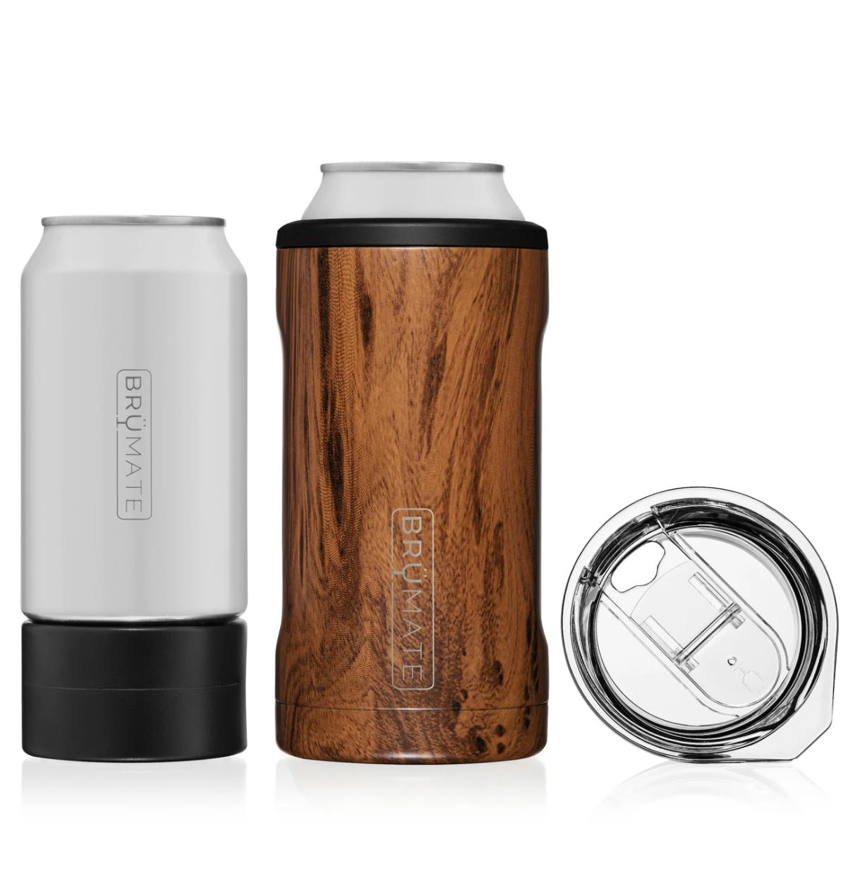 Hopsulator TRiO 3-in-1 can-cooler   Walnut