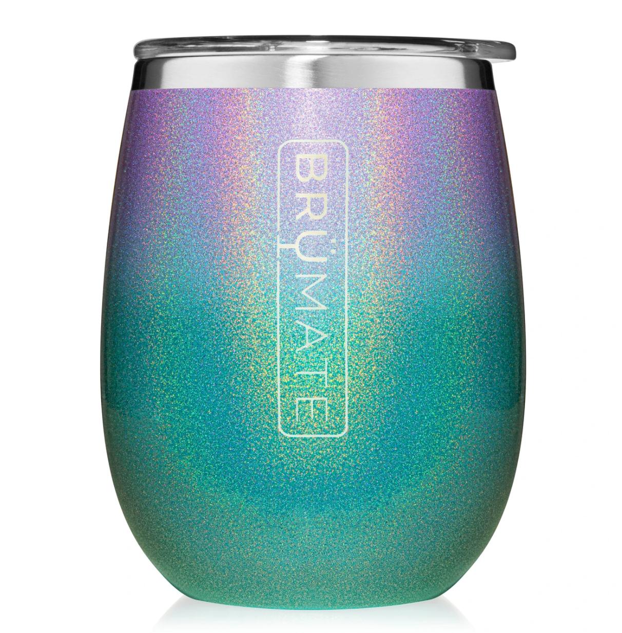 Uncork'd XL 14oz Wine Tumbler | Glitter Mermaid
