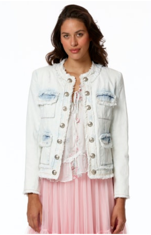 Denim Button Down Jacket