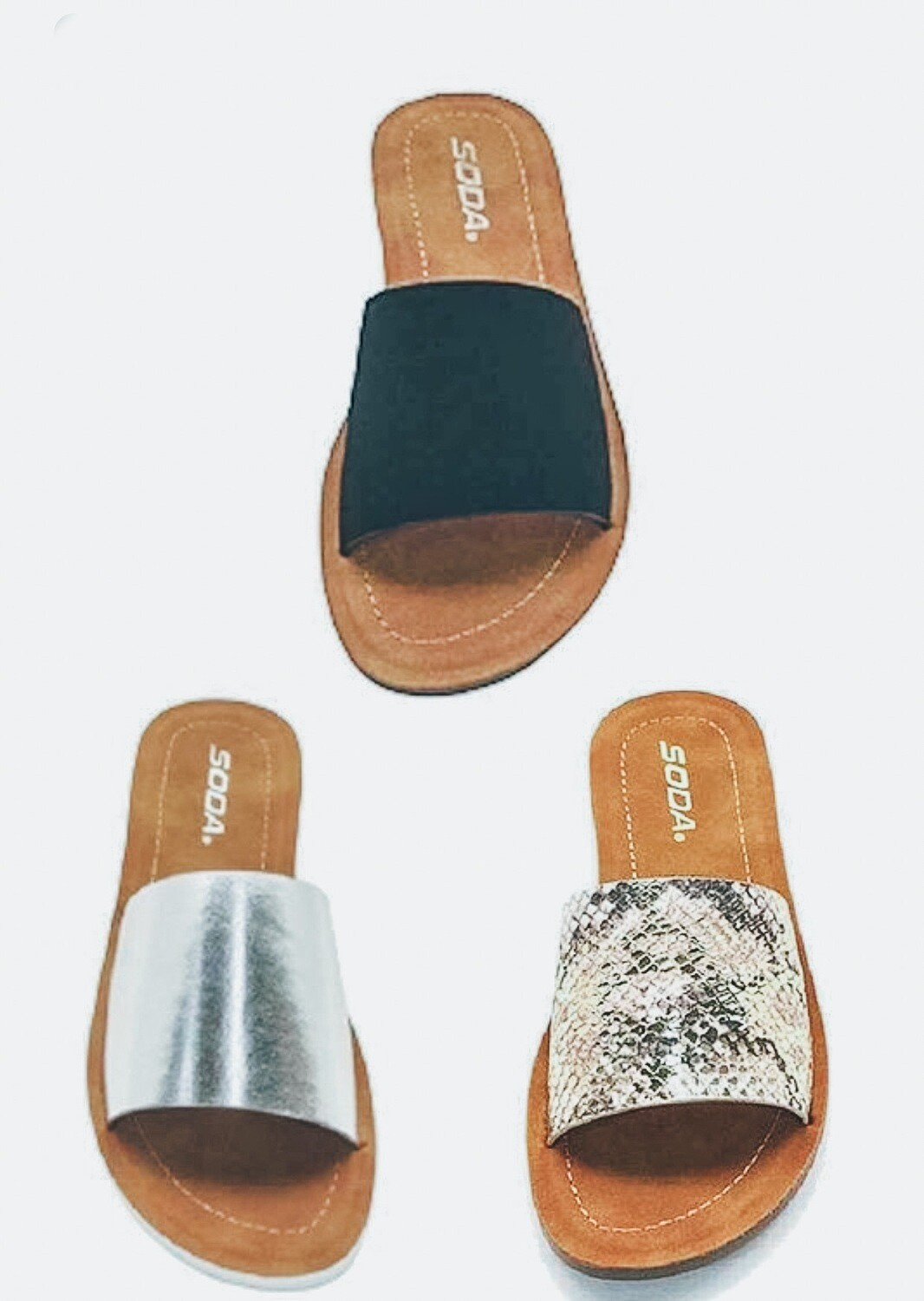 Wide Band Sandals